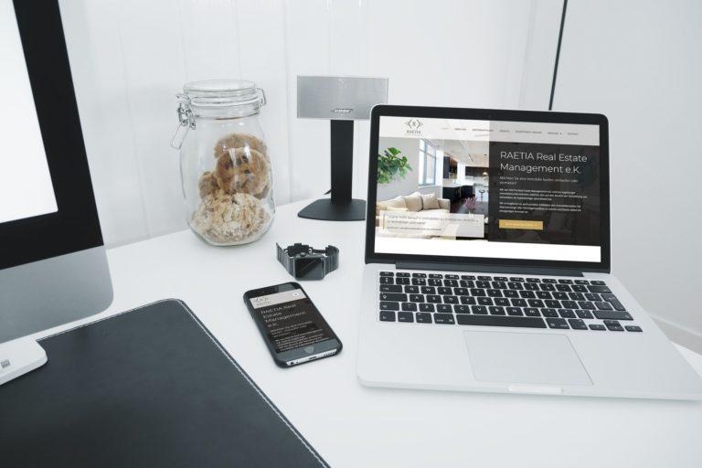 RAETIA Real Estate Management Mockup